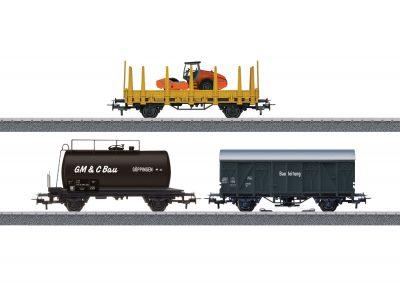 Güterwagen-Set Baustelle <br/>Märklin 044083