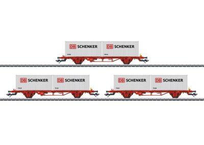 Tragwagen-Set DB Schenker NO <br/>Märklin 047725