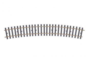 Gleis, gebogen, r 1394 mm, 22,5° (H104 <br/>Märklin 059073 1