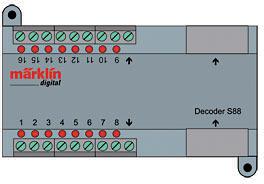 Zubehör-Decoder s88 DC <br/>Märklin 060882