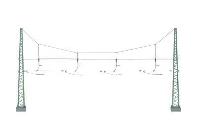 Quertragwerk für 4 Gleise <br/>Märklin 074132