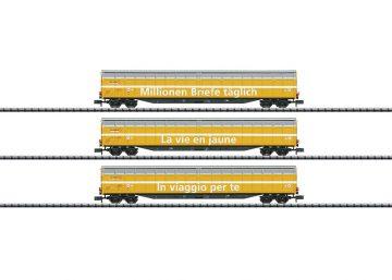 Güterwagen-Set der Post SBB <br/>TRIX 15799 1