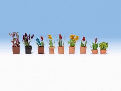 Zierpflanzen in Blumentöpfen <br/>NOCH 14060