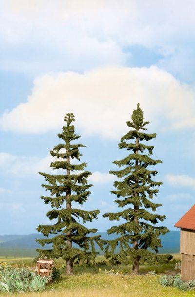 Nordmanntannen, 17 cm und 19 cm hoch, 2 Stück <br/>NOCH 21822