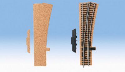 Gleisbettung, Kork, Weiche rechts, 3 mm hoch <br/>NOCH 50430