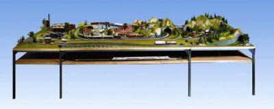 Schattenbahnhof-Unterbau, 115 x 100 cm <br/>NOCH 62101