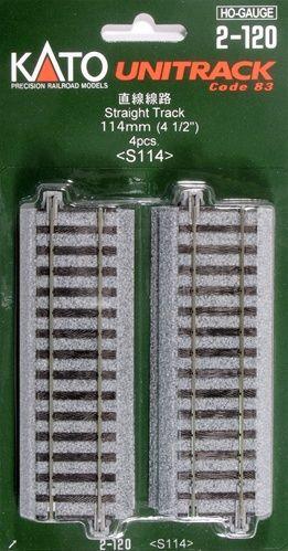 Gleis, gerade, 114 mm, 4 Stück <br/>KATO 7002120