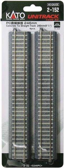 Gleis, gerade, Beton, 246 mm, <br/>KATO 7002152