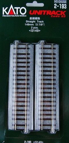 Gleis, gerade, 149 mm, 2 Stück <br/>KATO 7002193