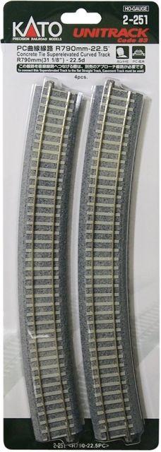 Gleis, gebogen, überhöht, Beton <br/>KATO 7002251