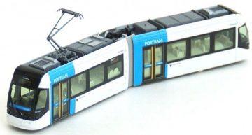 Straßenbahn, PORTRAM, TLR0606 blau <br/>KATO 70148014 1