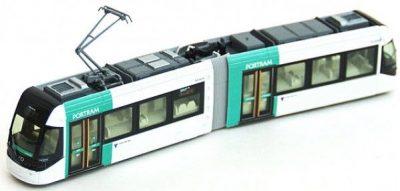 Straßenbahn, PORTRAM, TLR0605 grün <br/>KATO 70148015