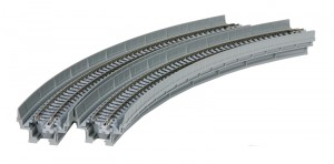 Viadukt, NBS, mit Gleis gebogen <br/>KATO 7077102