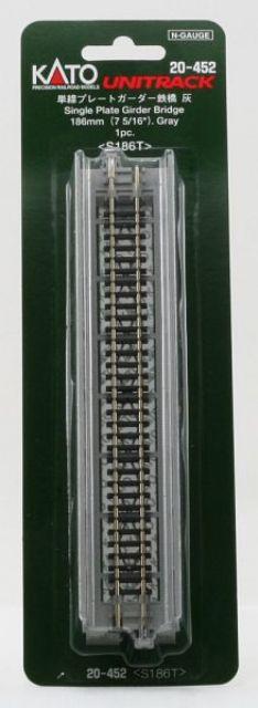Brücke, Vorflut-Brücke grau mit Gleis <br/>KATO 7077207 1