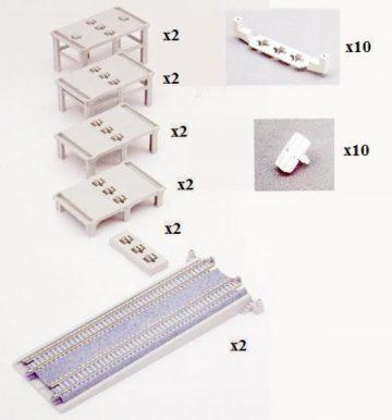 12-teiligPfeiler-Set auf- und a <br/>KATO 7077309 1