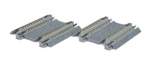 Doppelgleis, Beton, gerade, 62 mm <br/>KATO 7078022 1