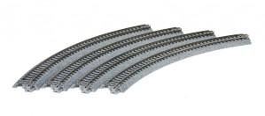 Gleis, gebogen, R 282, 45° <br/>KATO 7078101 1