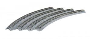 Gleis, gebogen, R 315, 45° <br/>KATO 7078103 1