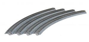 Gleis, gebogen, R 348, 45° <br/>KATO 7078106 1