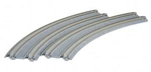 Doppelgleis mit Betonschwelle, gebogen, überhöht, R414/381 mm, 45°, 2 Stück <br/>KATO 7078114 1