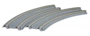 Doppelgleis mit Betonschwelle, gebogen, überhöht, R315/282 mm, 45°, 2 Stück <br/>KATO 7078116 1