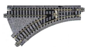 Weiche mit elektromagnetischem Antrieb, links, R150, 45° <br/>KATO 7078208