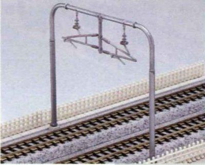 Oberleitungsmasten 2-gleisig, modern <br/>KATO 7078518