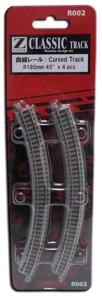 Gleis, gebogen, R195, 45° <br/>Rokuhan 7297002