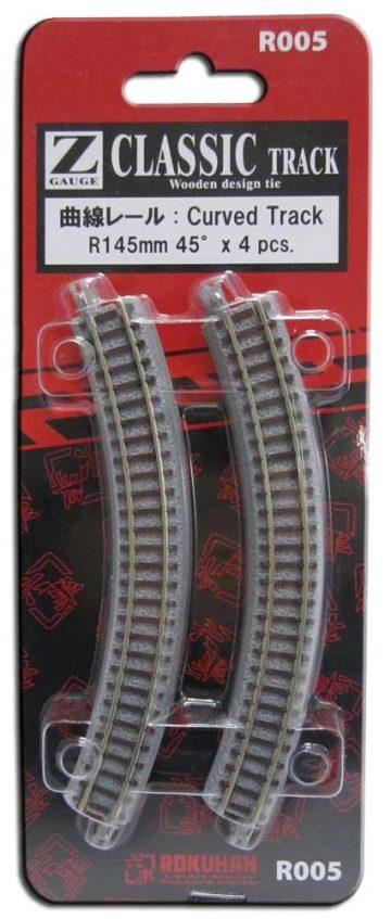 Gleis, gebogen, R145, 45° <br/>Rokuhan 7297005 2