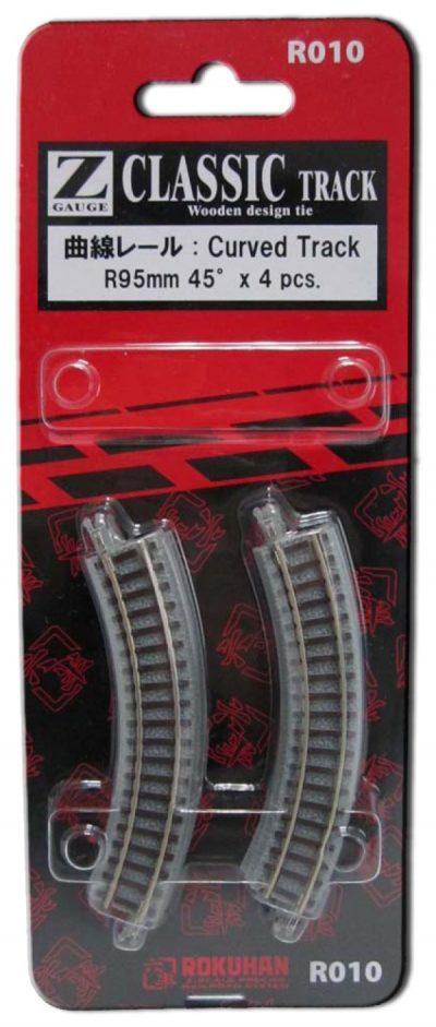 Gleis, gebogen, R95, 45° <br/>Rokuhan 7297010