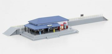 Bahnhof mit blauem Dach <br/>Rokuhan 7297634 1