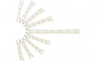 Fahrdrahtstück 140,0 mm, 5 Stück <br/>Viessmann 4134
