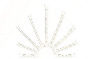 Universal-Fahrdrahtstück 330-360 mm, 3 Stück <br/>Viessmann 4157 1