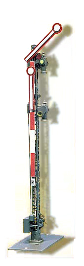 Form-Hauptsignal, 2-flügelig, ungekoppelt, wie 4502 aber langsam <br/>Viessmann 4503