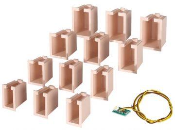 Innenbeleuchtung für Gebäude-Startset, 12 Boxen <br/>Viessmann 6005 1
