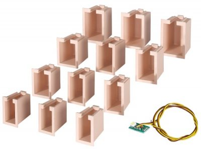 Innenbeleuchtung für Gebäude-Startset, 12 Boxen <br/>Viessmann 6005
