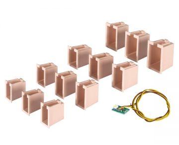 Innenbeleuchtung für Gebäude-Startset, 12 Boxen <br/>Viessmann 6005 3