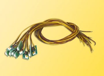 Innenbeleuchtung für Gebäude mit 1 LED, gelb, 10 Stück <br/>Viessmann 6007 2
