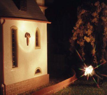 Flutlichtstrahler, 1-flammig, nieder, LED <br/>Viessmann 6330 2
