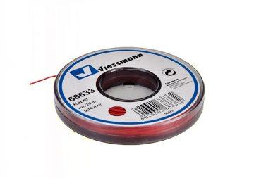 Kabel, 25 m, 0,14 mm² , rot <br/>Viessmann 68633 1