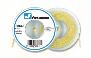 Kabel, 25 m, 0,14 mm², gelb <br/>Viessmann 68643 1