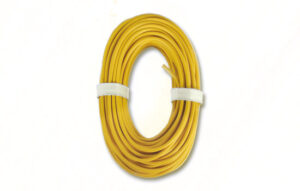 Kabel, 10 m, Hochstrom, gelb <br/>Viessmann 6897