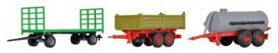 Landwirtschaftliches Hänge-Set, 3 Stück <br/>kibri 10908