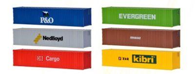 40-Fuss-Container, 6 Stuec <br/>kibri 10922