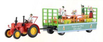 LANZ Traktor mit Festwagen <br/>kibri 12226 1