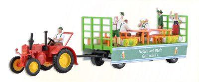 LANZ Traktor mit Festwagen <br/>kibri 12226