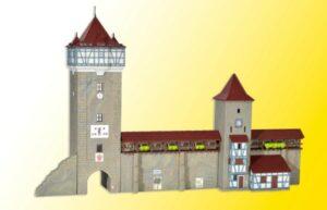Stadtmauer mit Fachwerkturm <br/>kibri 37362