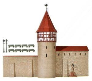 Stadtmauer mit Fachwerktur <br/>kibri 38914