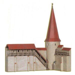 Stadtmauer mit Rundturm in <br/>kibri 38915