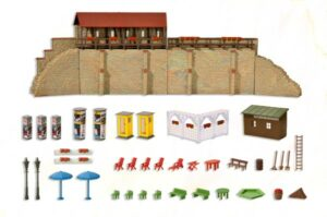 Stadtmauer mit Kleingarten <br/>kibri 38916